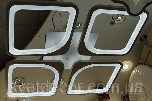 Люстра светодиодная потолочная Led 8060/4 dimmer с пультом коричневая