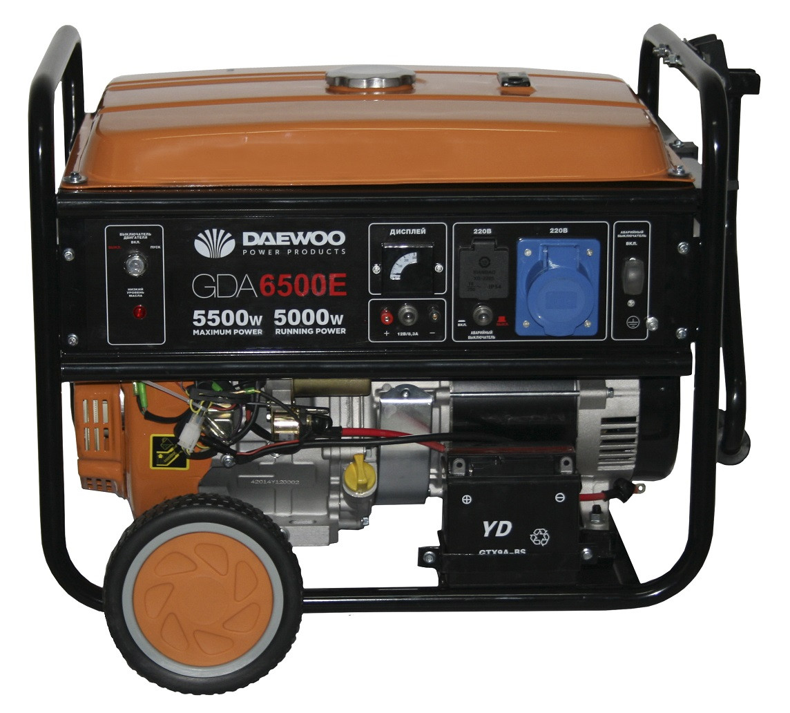 Генератор электричества Daewoo GDA 6500E (5,5 кВт) - Интернет-магазин Файно в Львове