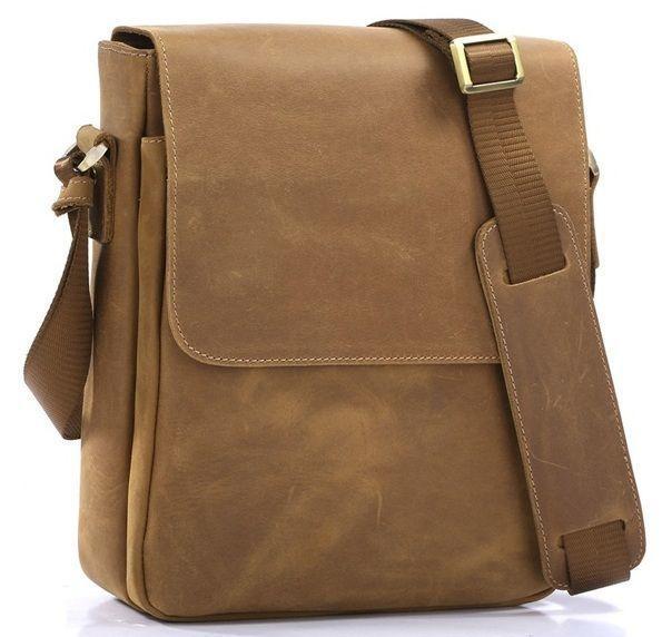 Сумка мужсмкая Vintage 14184 через плечо коричневая