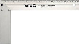Угольник столярный алюминиевый 300 мм YATO YT-7081
