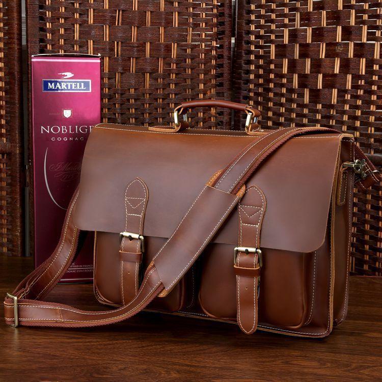 Портфель Vintage 14101 коричневый