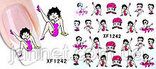 Наклейки на ногти девушка - размер стикера 6*5см, инструкция по применению есть в описании товара