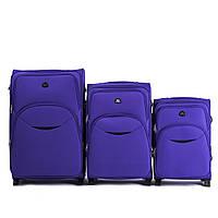 Комплект тканевых чемоданов Wings 1708-4 на 4 колесах