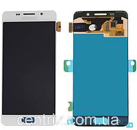 Дисплей (экран) для Samsung A310F Galaxy A3 (2016) + тачскрин, белый, копия
