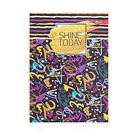 """Скетчбук А5, чёрные и белые листы """"Shine today"""""""