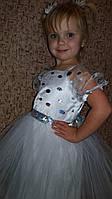 Детское платье белое на 4 - 5 лет