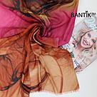 """Турецкий шарфик из хлопка """"Стелла"""" (оранжевый), фото 3"""