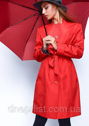 Плащ женский №9 (красный), фото 2