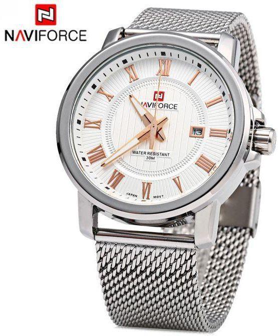 a5c7170e Мужские кварцевые часы Naviforce 9052 с металлическим ремешком ...