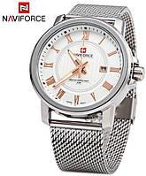 Мужские кварцевые часы Naviforce 9052 с металлическим ремешком