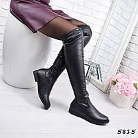 Сапоги женские ботфорты Joan черные, фото 1