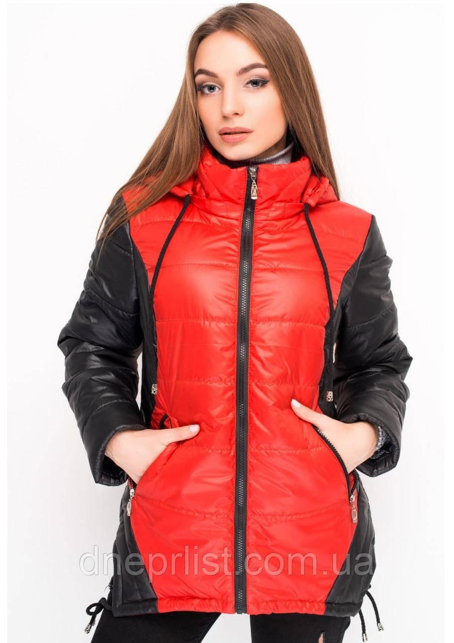 Куртка женская №24 (красный/чёрный)