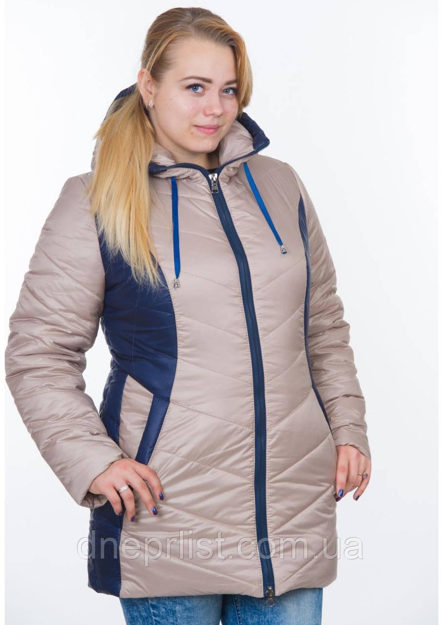 Куртка женская №26 (бежевый/синий)