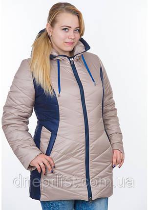 Куртка женская №26 (бежевый/синий), фото 2