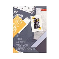 "Скетчбук А5, чорні та білі аркуші ""Take the risk..."" ЗК-27"