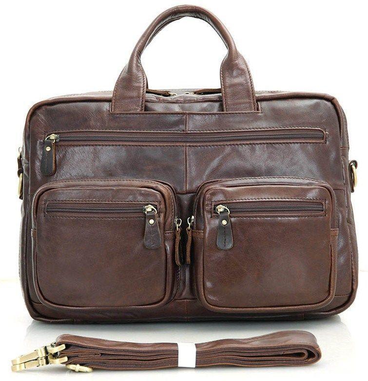 Сумка мужская Vintage 14411 коричневая