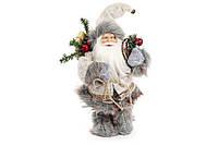 "Фигурка Санта Клаус ""Лесной"" (серый). 30 см"