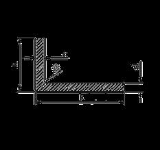 Алюминиевый уголок, Анод, 20х6х1,5 мм