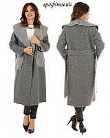 Жіноче пальто на запах - штучний каракуль.F306 Графітовий 56759e1cbb39a