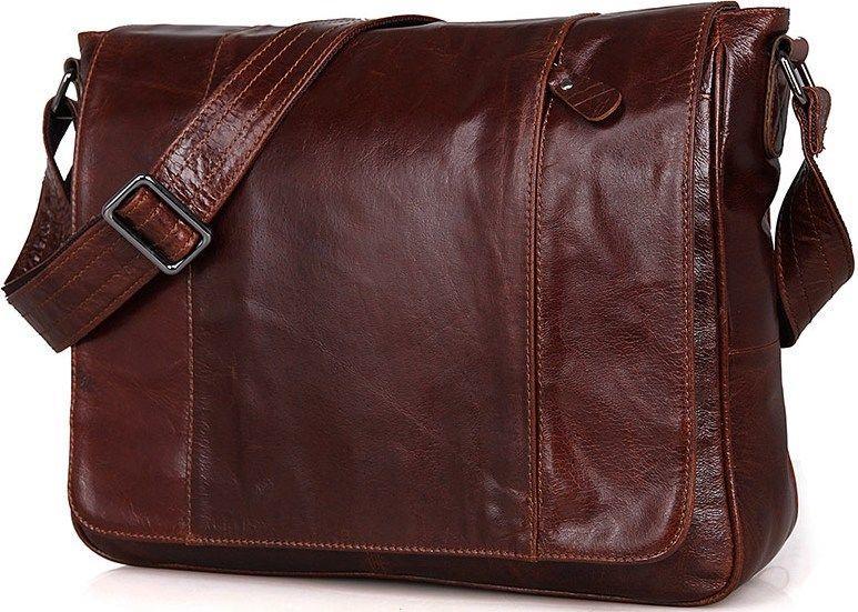 Сумка мужская Vintage 14453 коричневая