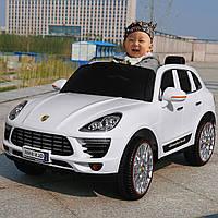 Детский электромобиль Porsche QS-858: EVA, 2.4G, 3-8 км/ч, кожа - БЕЛЫЙ - купить оптом , фото 1
