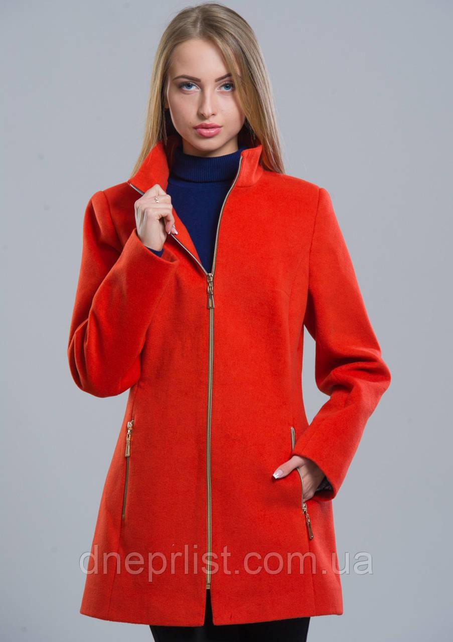 Пальто женское №2 (оранжевый)