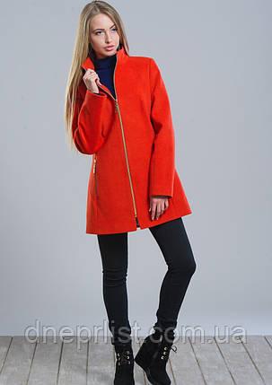 Пальто женское №2 (оранжевый), фото 2