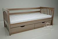 """Кровать одноярусная  """"Гармония"""" Brown. Ясень."""