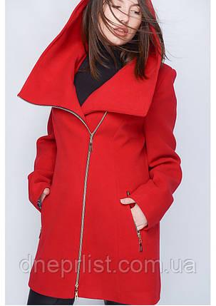 Пальто женское №46 (красный), фото 2