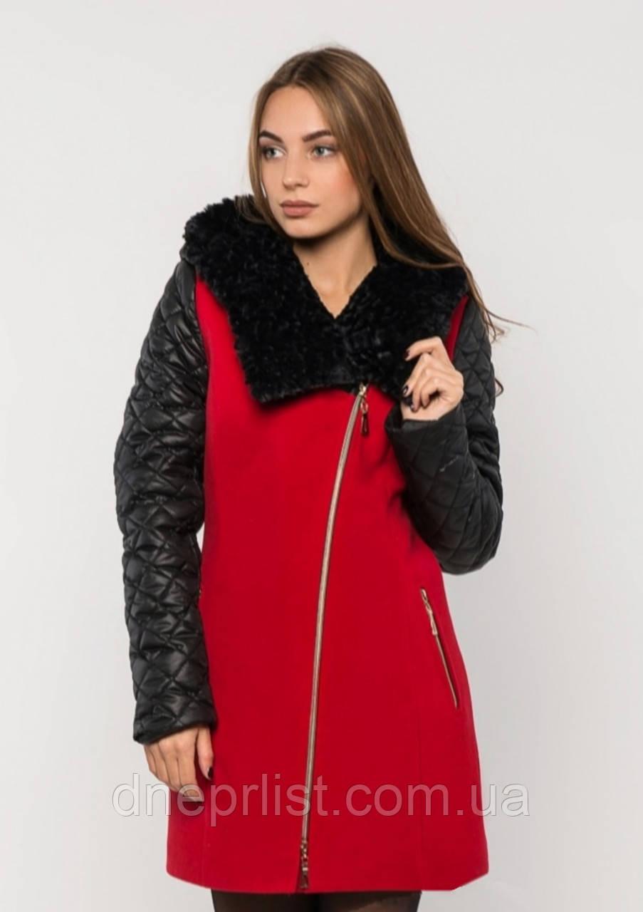 Пальто женское №43/1 ЗИМА (красный)