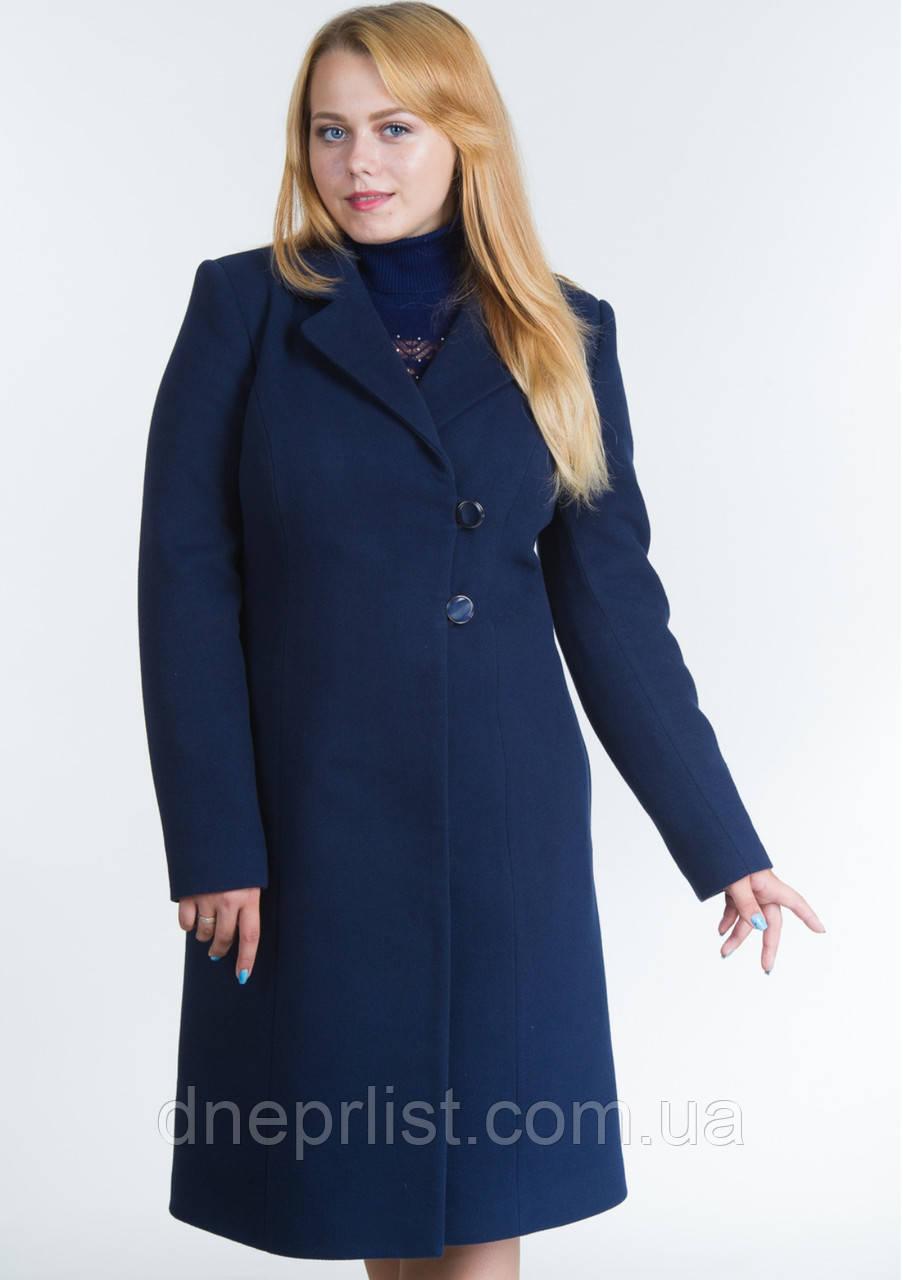 Пальто женское №22 ЗИМА (синий)
