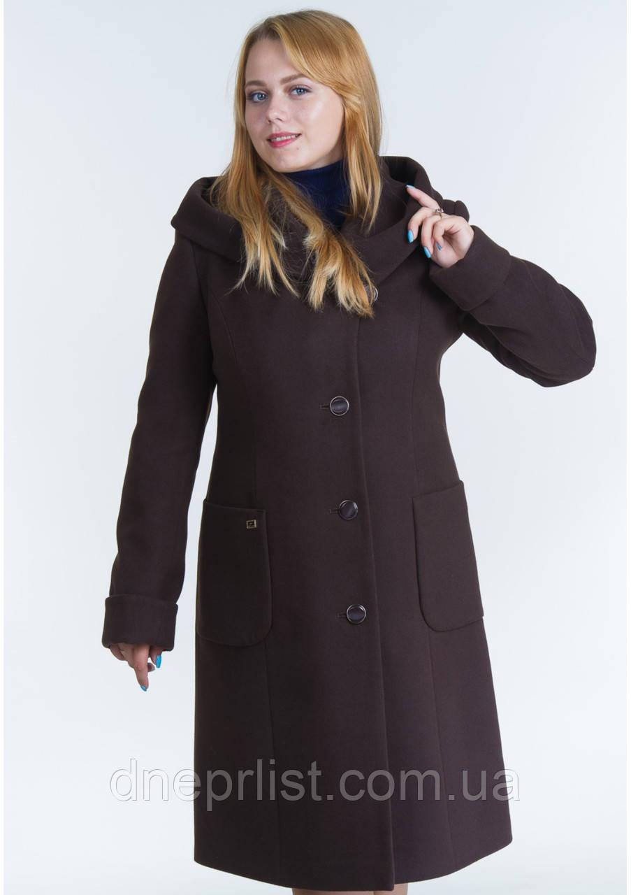 Пальто женское №24 (шоколад)