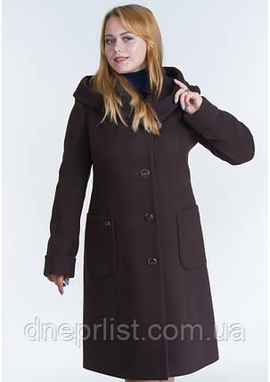 Пальто женское №24 (шоколад), фото 2