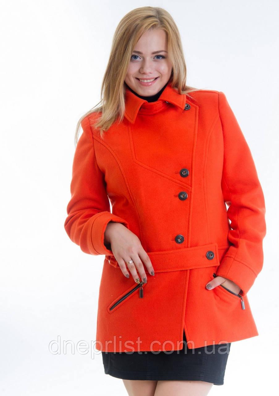 Пальто женское №40 ЗИМА (оранжевый)