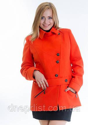 Пальто женское №40 ЗИМА (оранжевый), фото 2