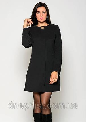 Пальто женское №41 (чёрный), фото 2
