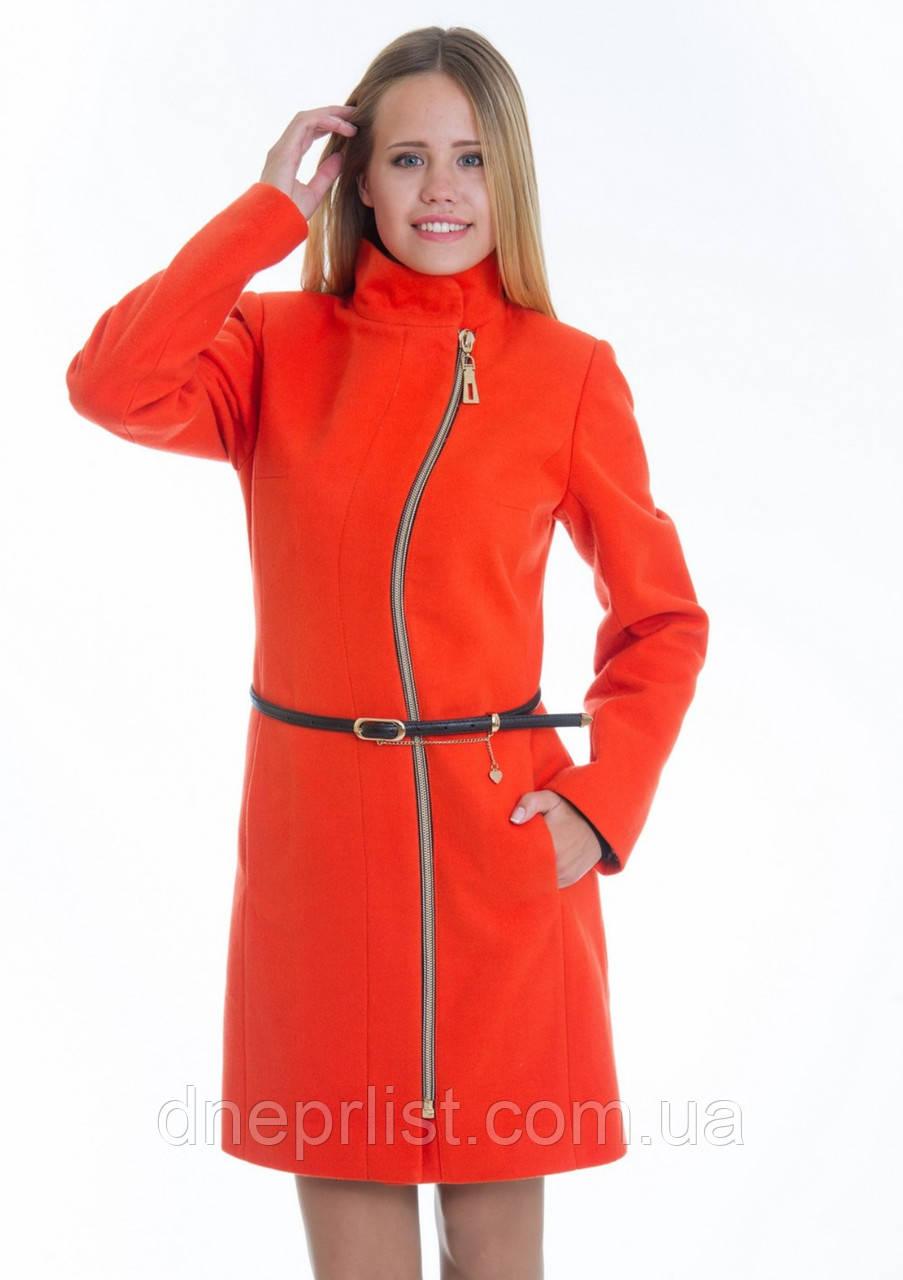 Пальто женское №4 ЗИМА (оранжевый)