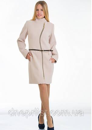Пальто женское №4 ЗИМА (бежевый), фото 2