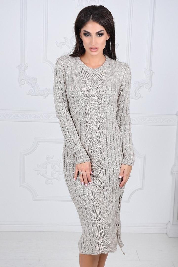 14b0467ffad Зимнее вязаное платье - Интернет-магазин одежды