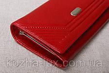 Червоний жіночий шкіряний гаманець з натуральної шкіри, фото 2
