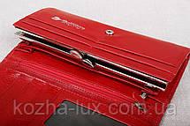 Червоний жіночий шкіряний гаманець з натуральної шкіри, фото 3
