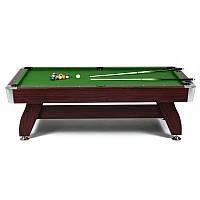 Бильярдный стол 7FT Cherry/Green с каменной плитой
