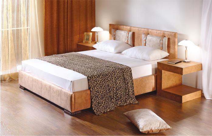 Ліжко двоспальне в спальню з мякою спинкою Діана  НСТ  Альянс Діана 2, 12 категорія