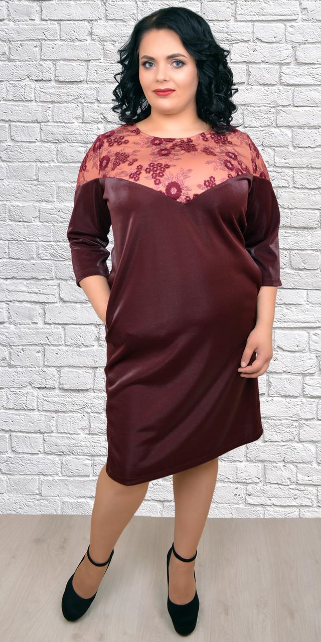 Молодежное женское платье свободного кроя из крепа, 54,56,58,60