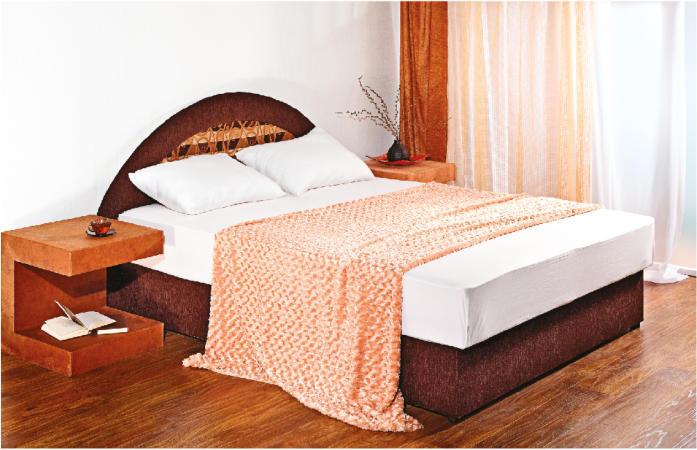 Ліжко двоспальне в спальню з мякою спинкою Фантазія 1.4\1.6 НСТ Альянс 1.4, без тканини