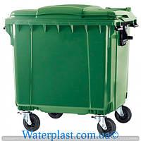 Контейнер для мусора зеленый 1100 литров Weber