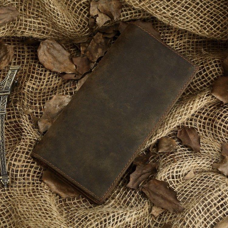 Гаманець чоловічий Vintage 14228 вінтажна шкіра Коричневий, Коричневий