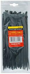 Хомуты (стяжки) пластиковые 3,6x200мм черные INTERTOOL TC-3621 (100 шт)