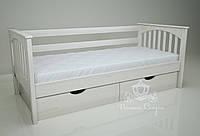 """Кровать одноярусная  """"Гармония"""" White. Ясень., фото 1"""