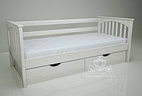 """Кровать одноярусная  """"Гармония"""" White. Ясень."""